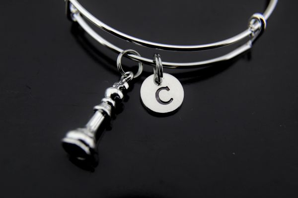 Silver King Chess Charm Bracelet