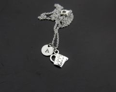 Silver Measuring Cup Charm Necklace