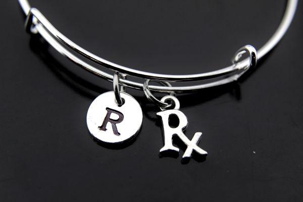 Silver Rx Pharmacist Charm Bracelet