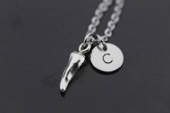 Silver Hot Chili Pepper Charm Necklace