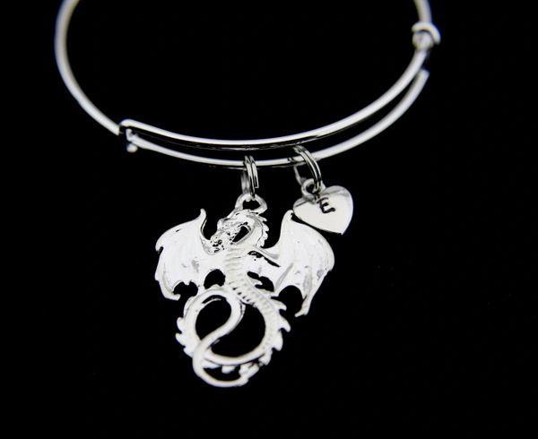 Silver Dragon Charm Bracelet
