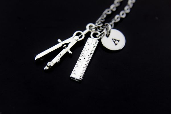 Silver Architect Charm Necklace