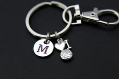 I Love Volleyball Charm Keychain