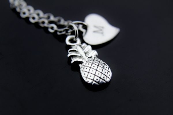 Pineapple Necklace Silver Pineapple Charm Necklace