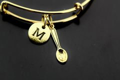 Gold Spoon Charm Bracelet