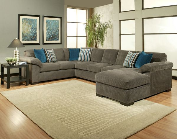 CUSTOM MADE IN USA Gray Sectional Sofa (ALL COLORS) | The Furniture ...