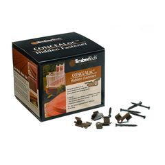 TimberTech CONCEALoc 175-Count Brown Clip Deck Hidden Fasteners (100-sq ft Coverage)