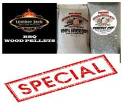 ***SPECIAL*** Lumberjack/Cookingpellets-Combo-Box, 60 Pounds for only