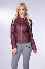 Wine Quilted Moto Style Jacket