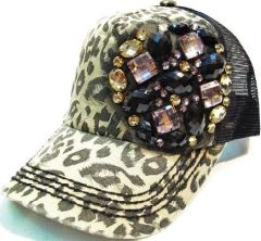 Leopard Gem Trucker Cap
