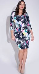 Floral Craze V-Neck Midi Dress