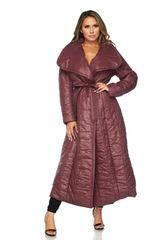 Maroon Puff Trench Coat