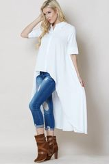 Classic White High-Low Shirt