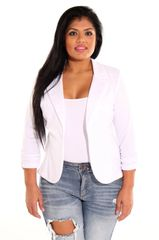 White One-Button Blazer
