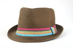 Brown Striped Fedora