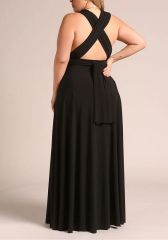 Curvy Black Convertible Dress