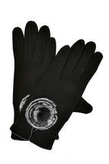 Fur Puff Knit Gloves