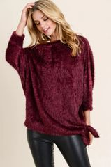 Mulberry Furry Side Tie Top