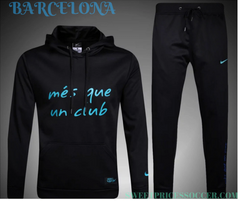 Barcelona Black Hooded Training suit