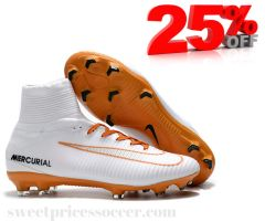 Mercurial Superfly V FG white/m +free bag