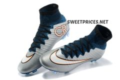 CR7 SILVER MERCURIAL KIDS SHOES ++BAG