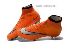NIKE MERCURIAL SUPERFLY FG ORANGE KIDS SHOES + BAG