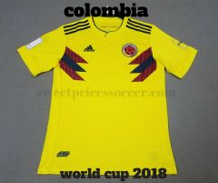 Colombia home 2018 World Cup jersey + choice Custom+ add full kit