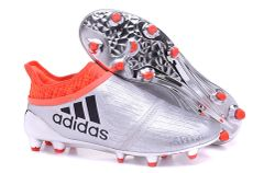 ADIDAS X 16+ PURECHAOS FG/AG FIRM GROUND SILVER +FREE BAG
