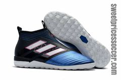 ACE Tango 17+ Purecontrol IC BLACK/BLUE +free bag Indoor shoes