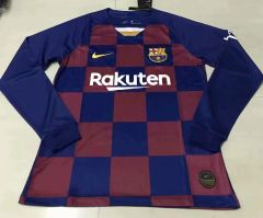 Long Sleeve Barcelona Jersey ( home ) 19-20 Custom