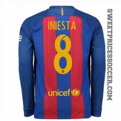 BARCELONA JERSEY SEASON 2016-2017 LONG SLEEVE
