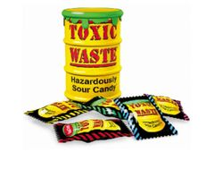Toxic Waste Sour Candy Drums
