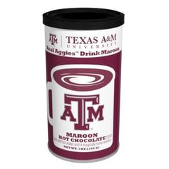 Texas A&M University Colorful Maroon Hot Chocolate
