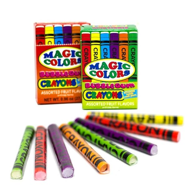 Magic Colors Bubble Gum Crayons Packs 2ct