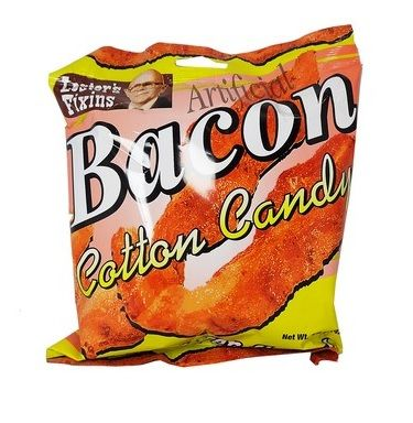 Lester's Fixin's Bacon Cotton Candy