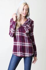 Button Up Flannels with Detachable Hood