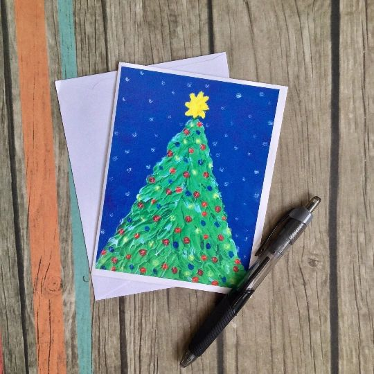 Christmas Notecard.Up And Down Art Paintings Acrylic Paintings Paintings For Sale
