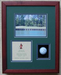 Hole In One Shadowbox with Photo
