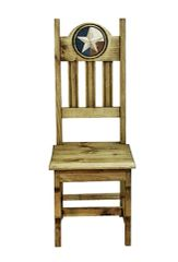Wood Seat Lonestar Marble Chair