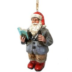 Teacher Santa Ornament