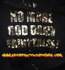 NO MORE GOD DAMN FAIRYTALES! Camo Print Sweater
