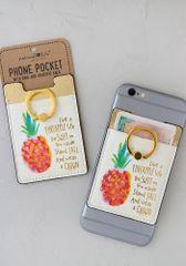 Phone Pocket Ring- Pineapple