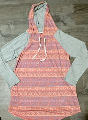 Aztec and Gray Hoodie
