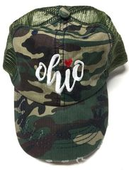 Camo Ohio Heart Hat