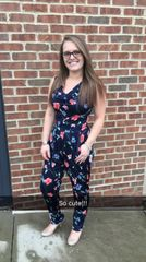 Tapered Leg Floral Jumpsuit