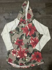 Neutral Blossoms Hoodie