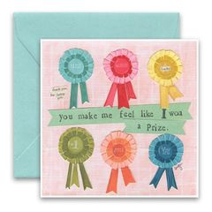 """Won a Prize"" Greeting Card"