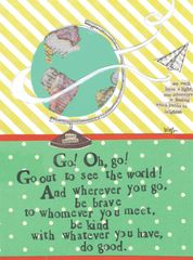 Curly Girl Greeting Card- Go out and see the world