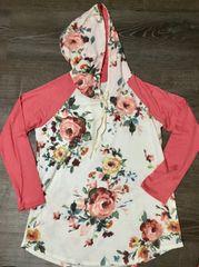 Floral Peach Tones Hoodie