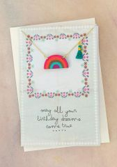 Die Cut Wood Necklace Card